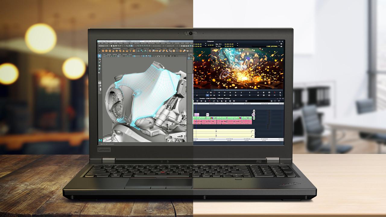 Lenovo ThinkPad P52: Erstmals 128 GB RAM und 6Kerne im Notebook