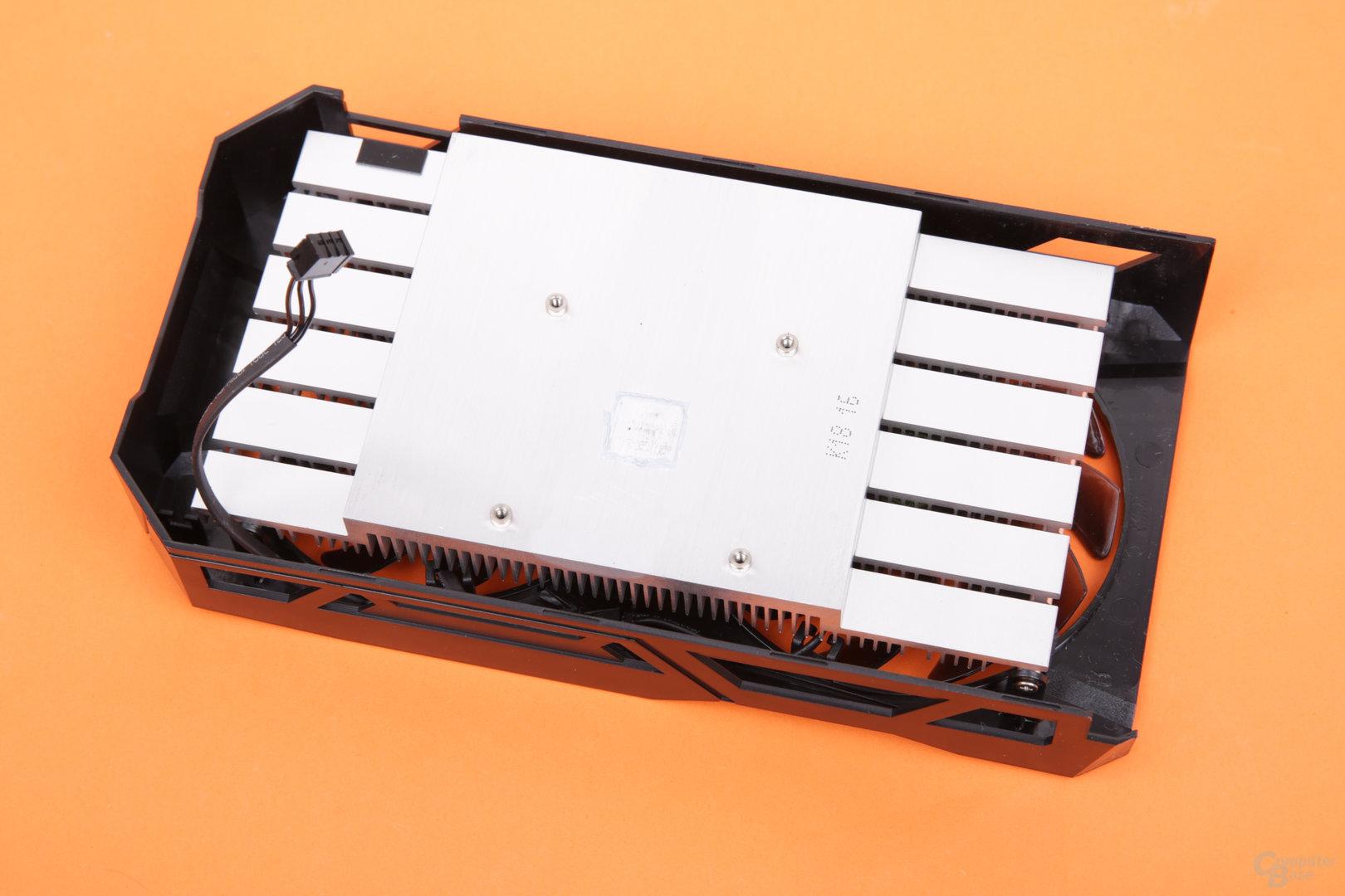 Gigabyte GeForce GTX 1050 3GB Windforce – Kühlerrückseite