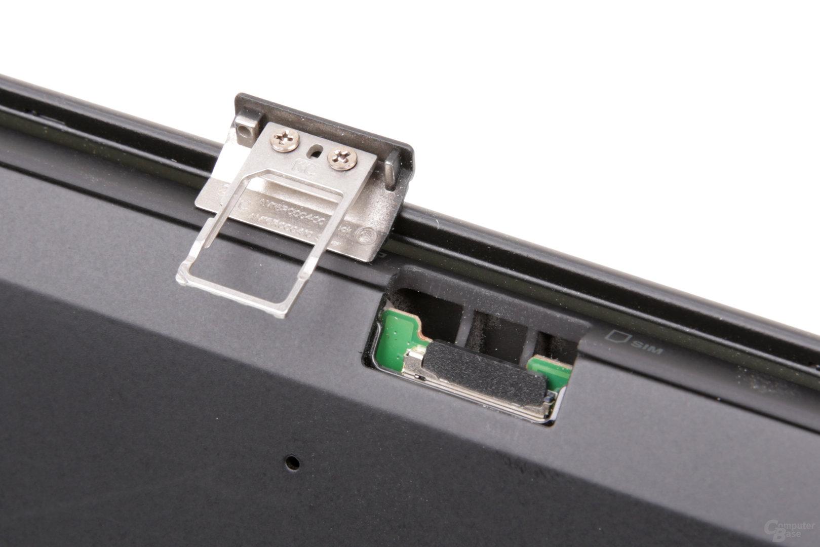 In der Schublade befindet sich das Nano-SIM-Fach