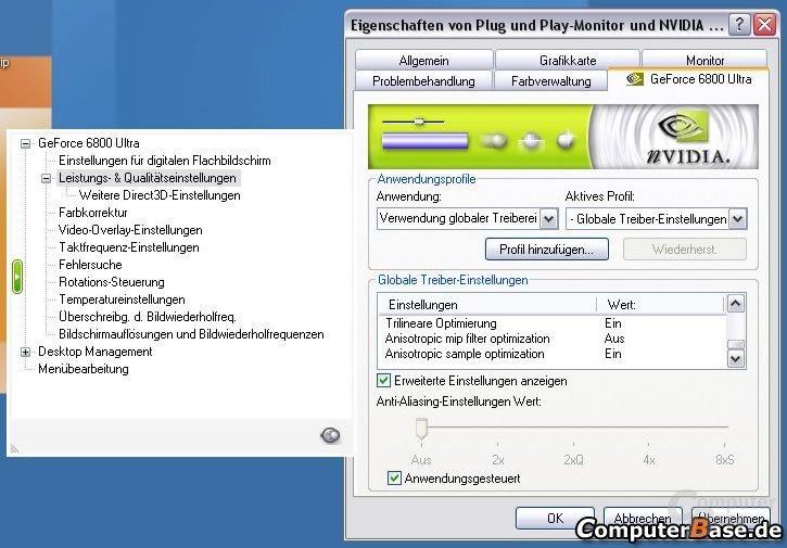 Optimierungen im ForceWare 65.62