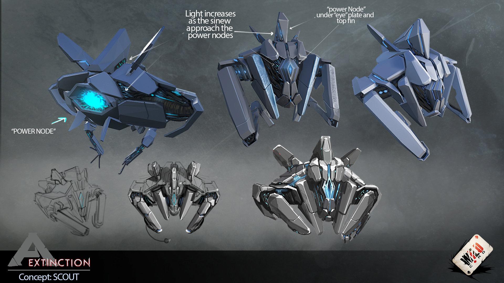 Drohnen als Scout (Concept Art)