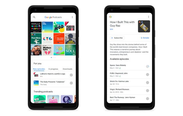 Google Podcasts für Android