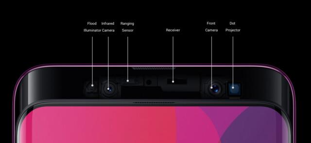 Im Slider finden sich Kameras und Sensoren
