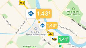 Bertha: Daimlers Tank-App mit Apple- und Google-Integration