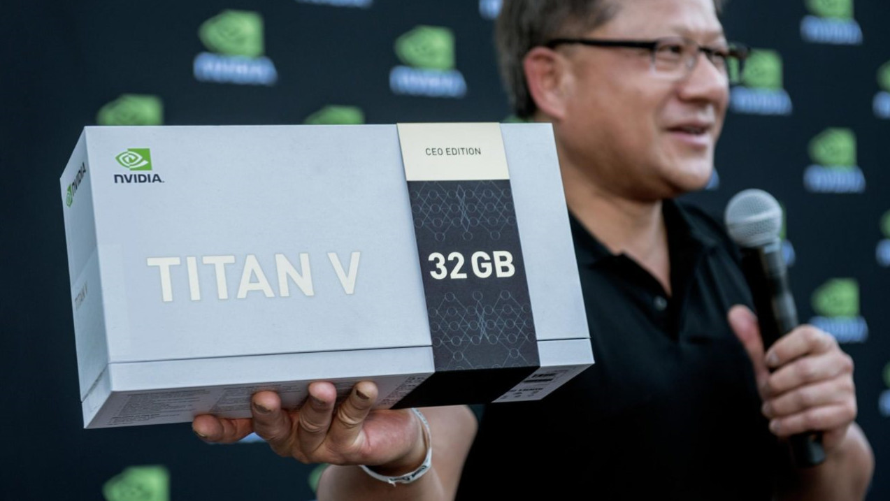"""""""CEO Edition"""": 20 Titan V mit 32 GB HBM2 an AI-Innovatoren verteilt"""