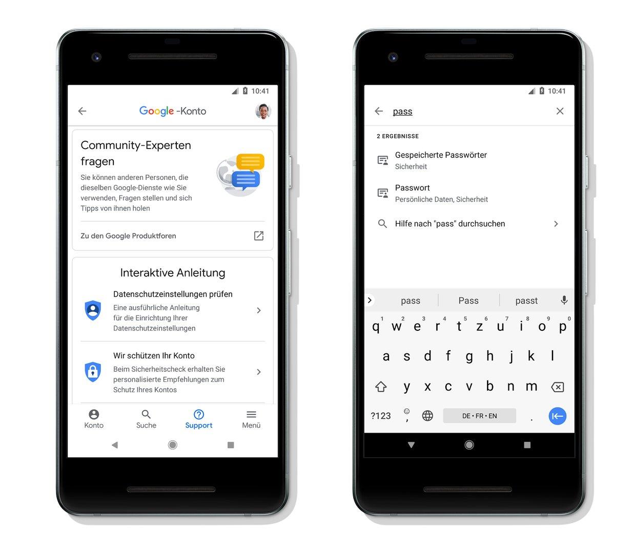Google-Konto: Community-Experten und Suche