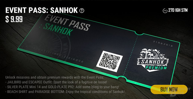 Event Pass zur neuen Karte Sanhok