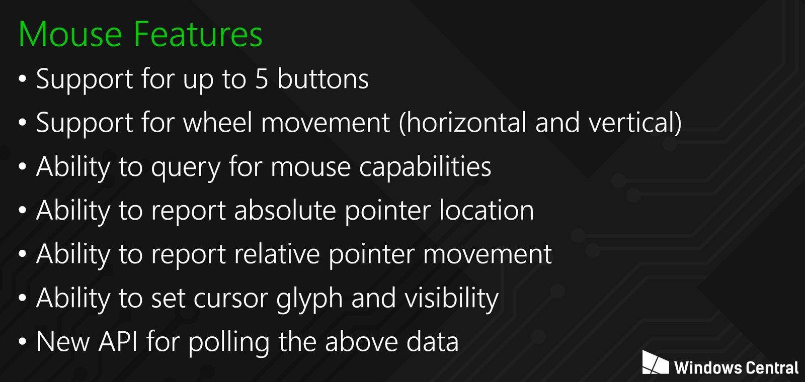 Die Eigenschaften der Maus werden klar umrissen