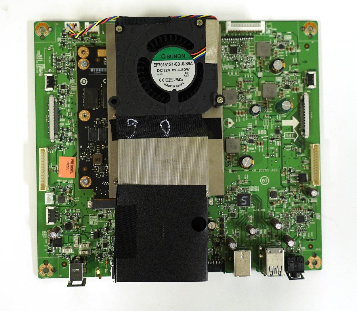 Der Chip benötigt eine aktive Kühlung