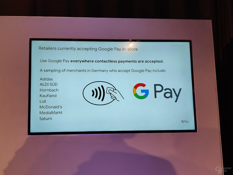 Google Pay im Geschäft
