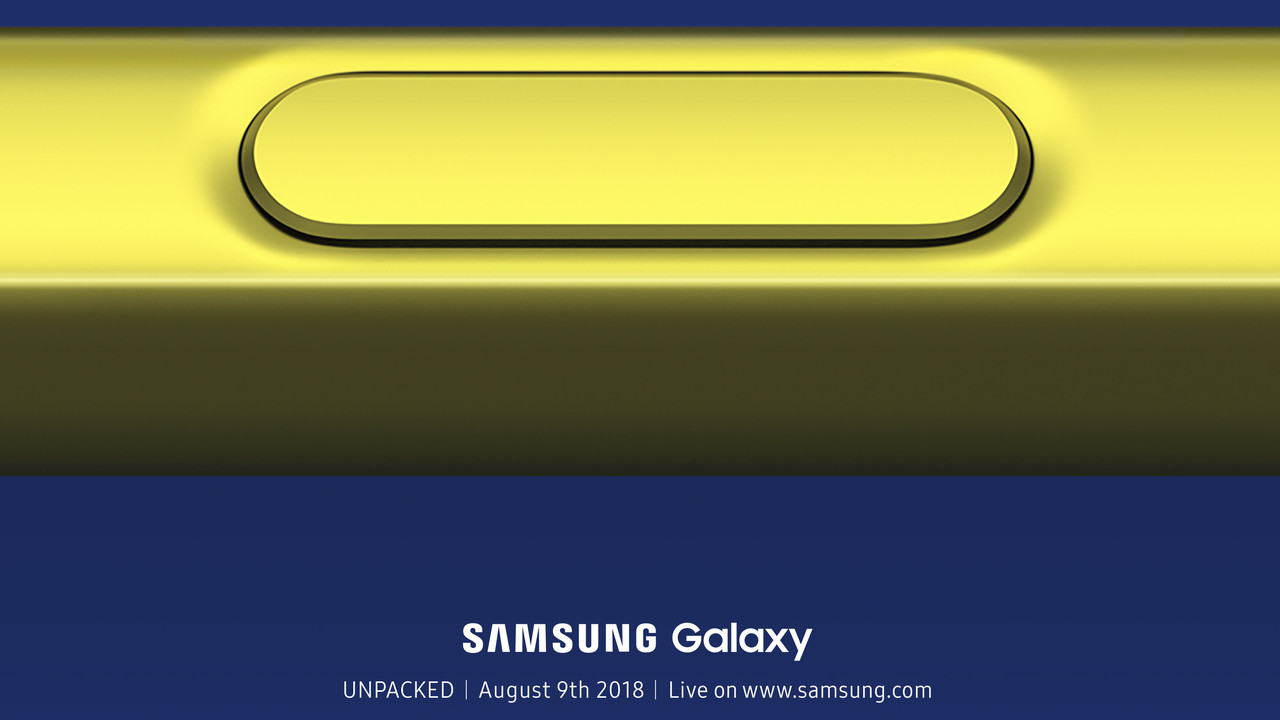 Samsung bestätigt: Galaxy Note 9 wird bereits am 9.August vorgestellt