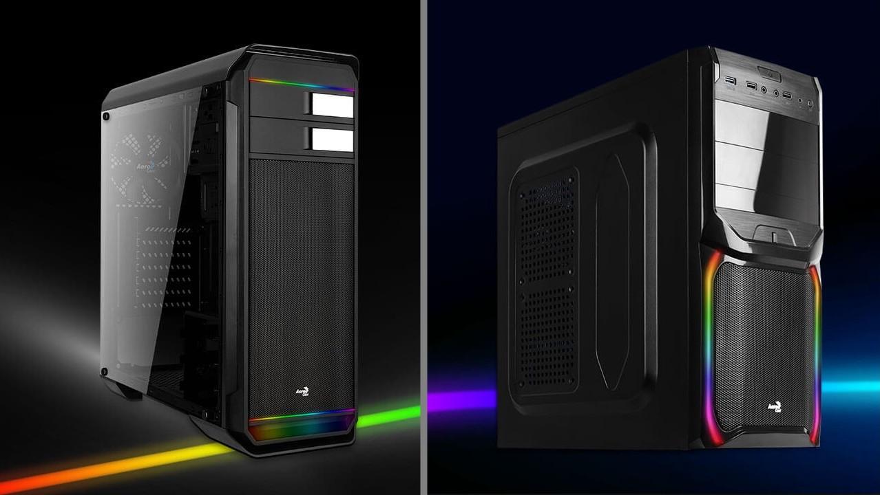 Aerocool 500G RGB & V3X RGB: Fenster und RGB-Streifen für 55 und 35 Euro