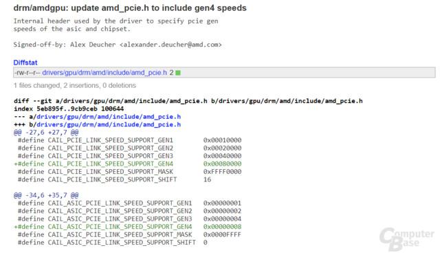 AMDGPU-Treiber für Linux für PCIe 4.0 angepasst