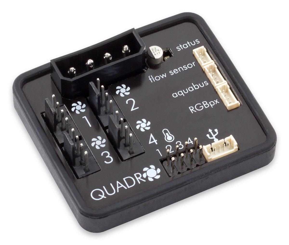 Aqua Computer Quadro: Mini-Version der Aquaero-Lüftersteuerung