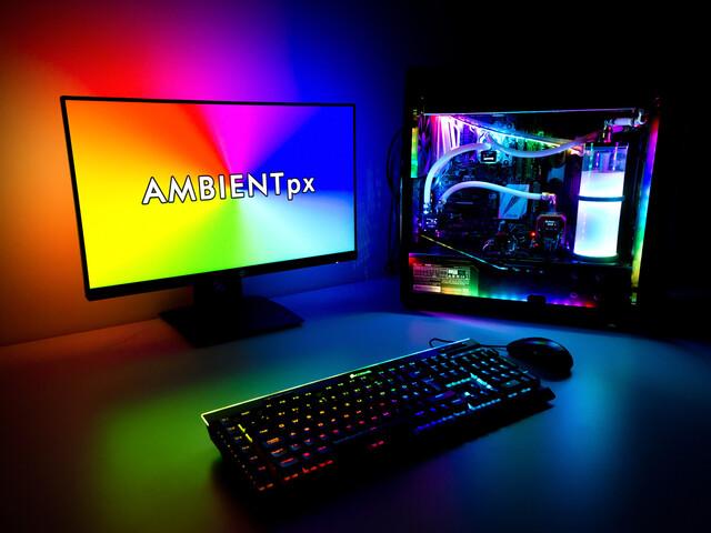 Aqua Computer Ambientpx: Ambilight für den PC-Monitor per Quadro-Steuerung
