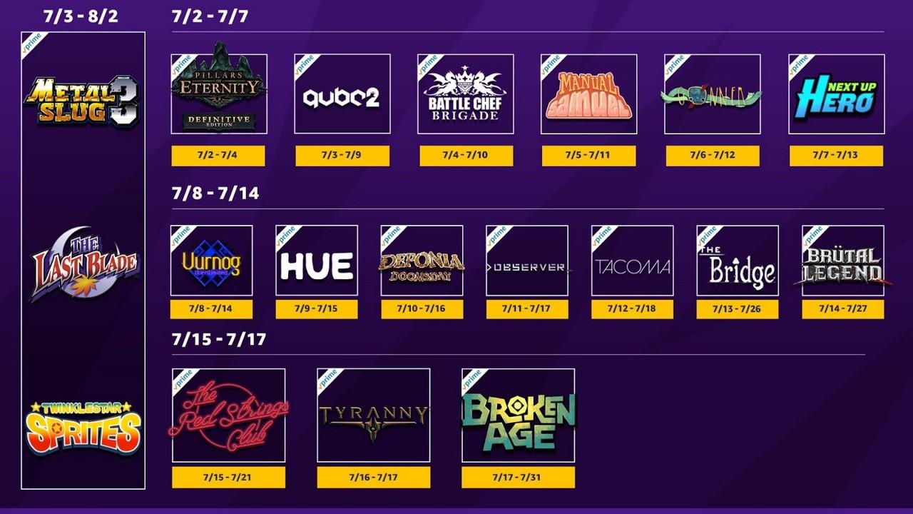 Twitch Prime: Gratis Spiele-Bundle umfasst im Juli 21 Titel