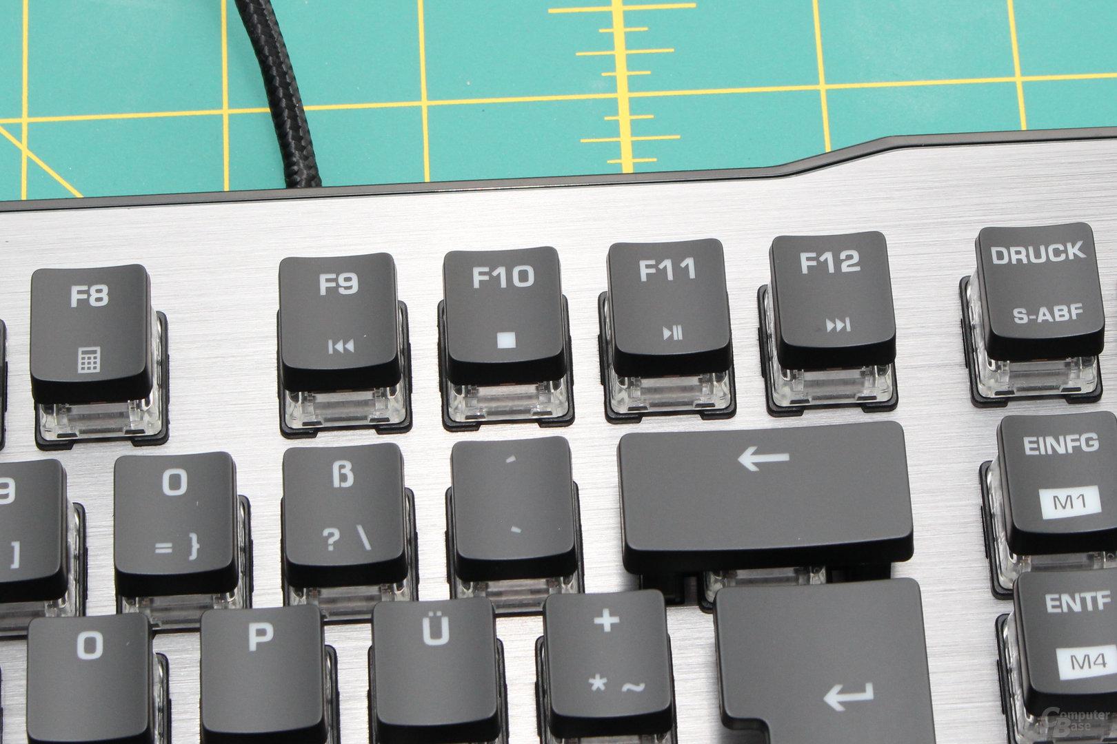 Steuerung des Medienplayers (F9 bis F12)
