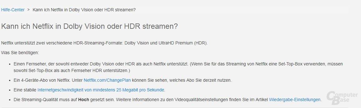 Netflix HDR FAQ