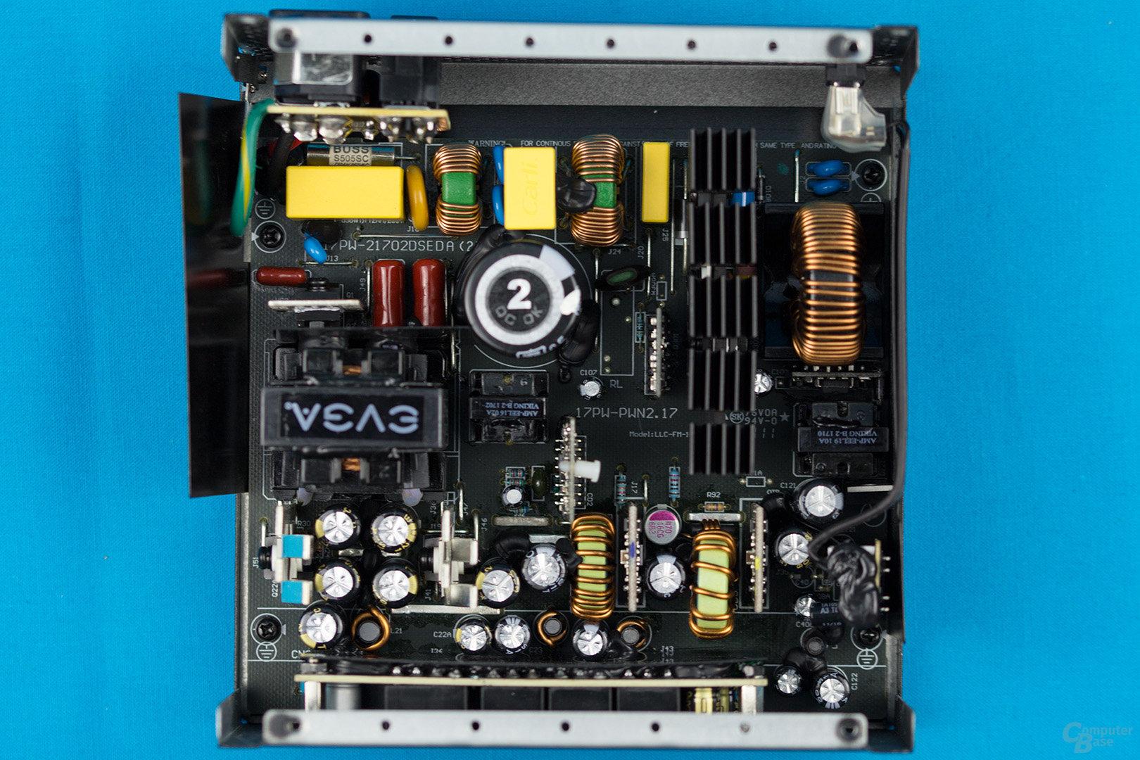 EVGA B3 550W – Übersicht Elektronik