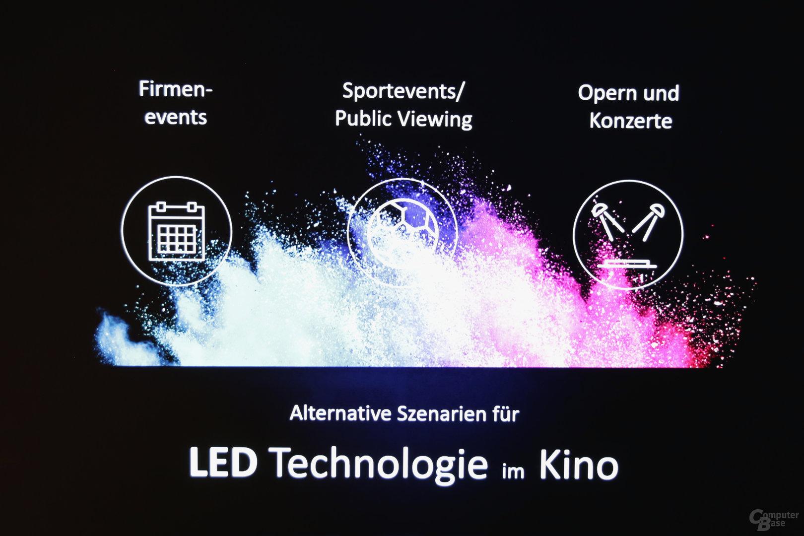 Cinema LED ist nicht nur für die Filmwiedergabe geeignet