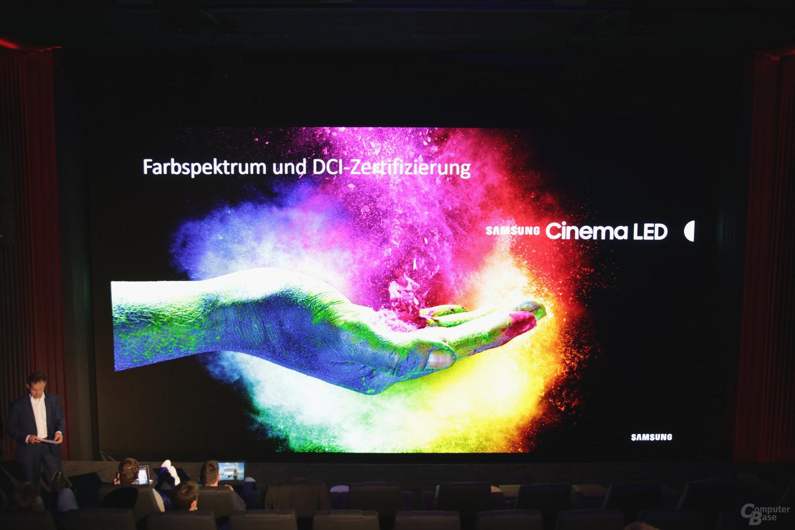 Samsung Cinema LED trägt die DCI-Zertifizierung