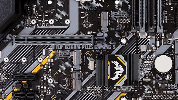 TUF B360M-Plus Gaming S: Asus bringt Micro-ATX-Mainboard mit 3 × M.2 und RGB