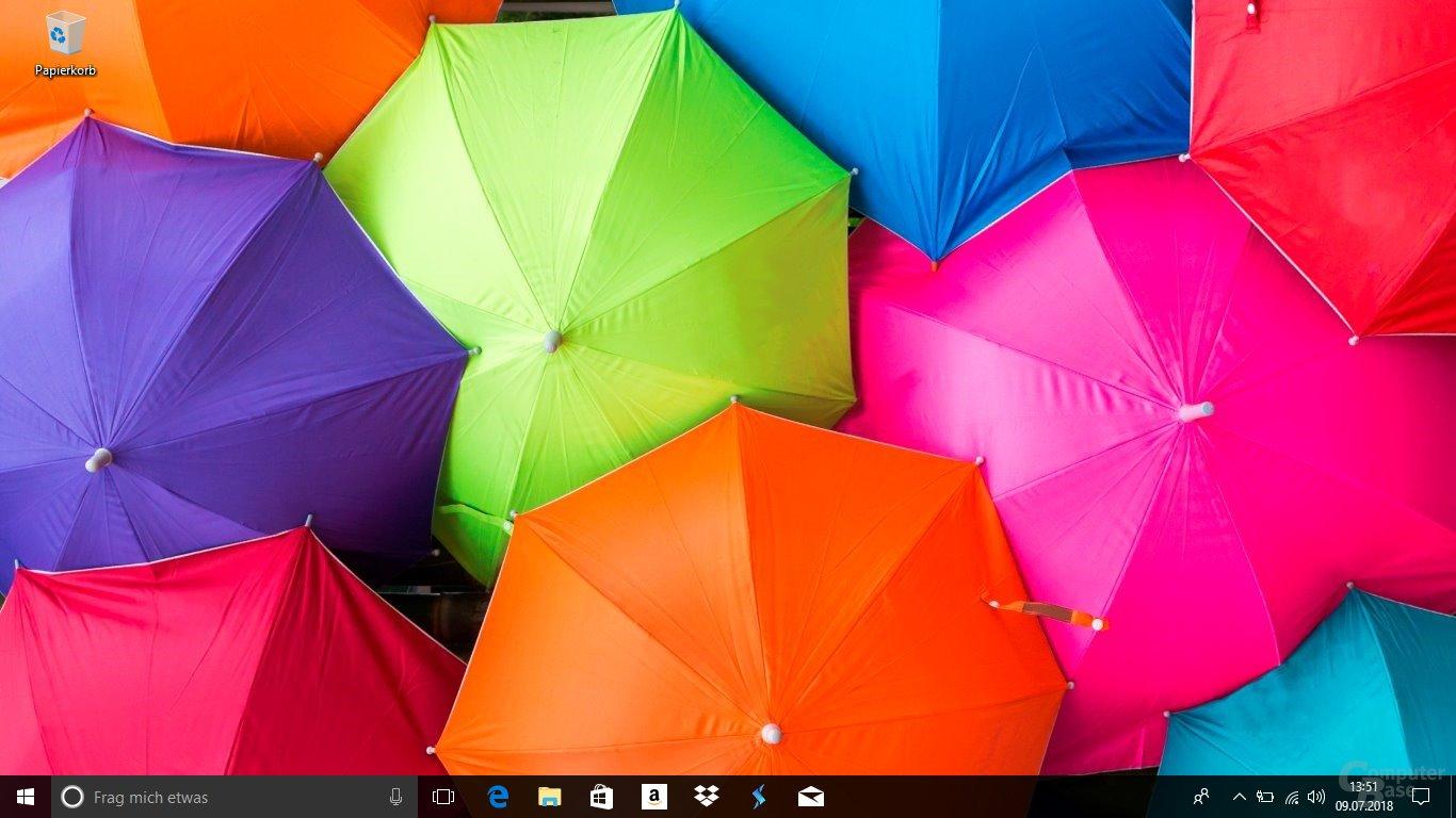 Der Desktop trägt keine Bloatware