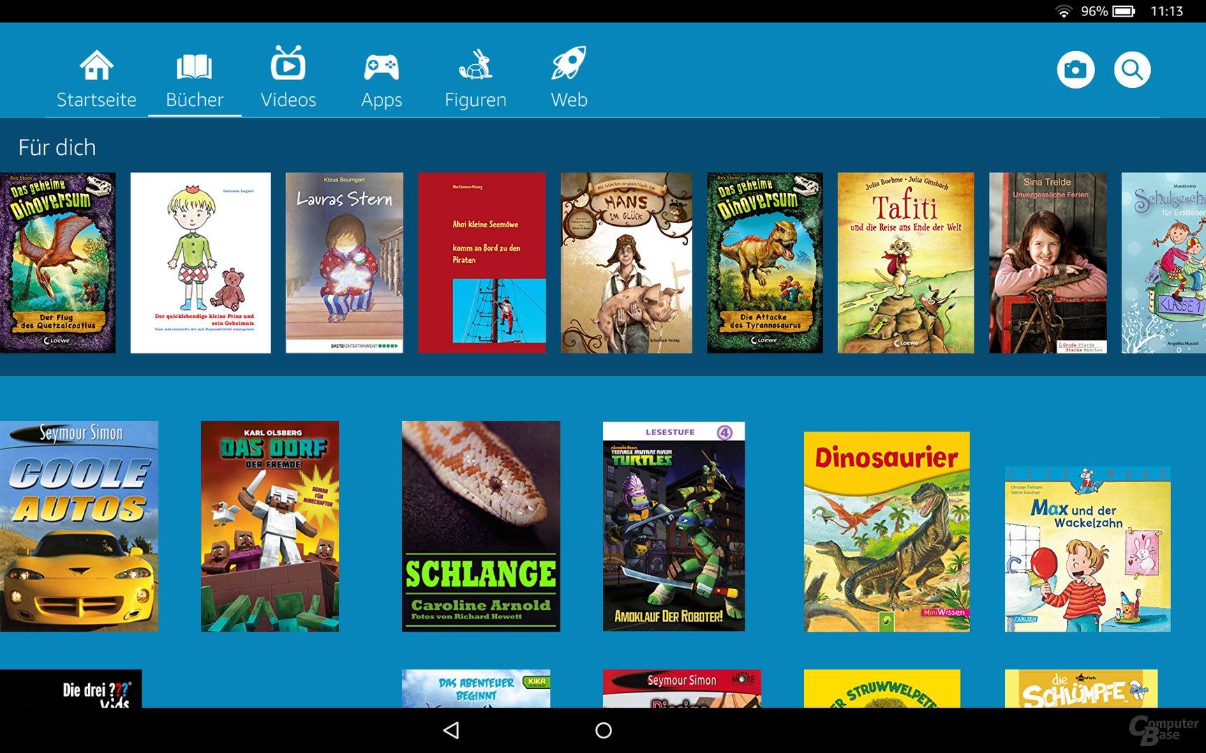 FreeTime Unlimited bietet eine Fülle an Lesefutter
