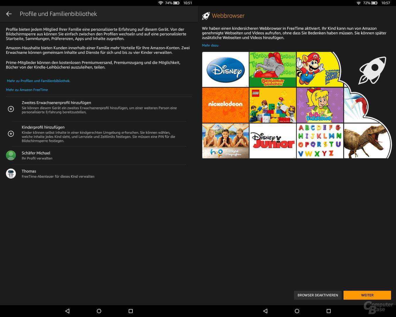 Einrichtung von Amazon FreeTime auf dem Fire HD 10 Kids Edition
