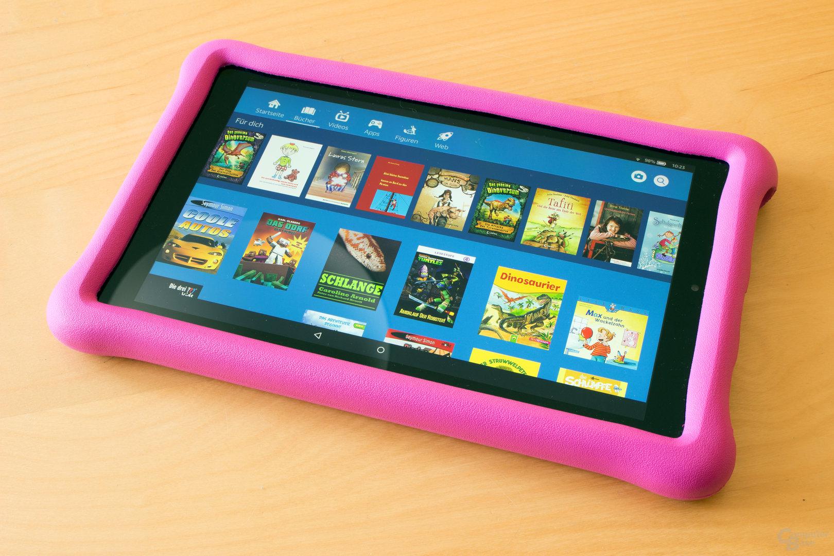 Fire HD 10 Kids Edition ist dank stabiler Hülle gut geschützt