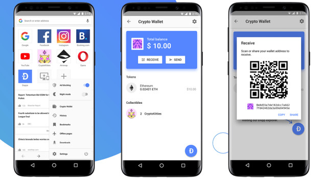 Opera für Android: Erster Browser mit integrierter Krypto-Wallet