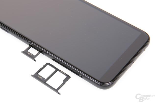 Echtes Dual-SIM plus microSD gibt es nur beim Galaxy A6