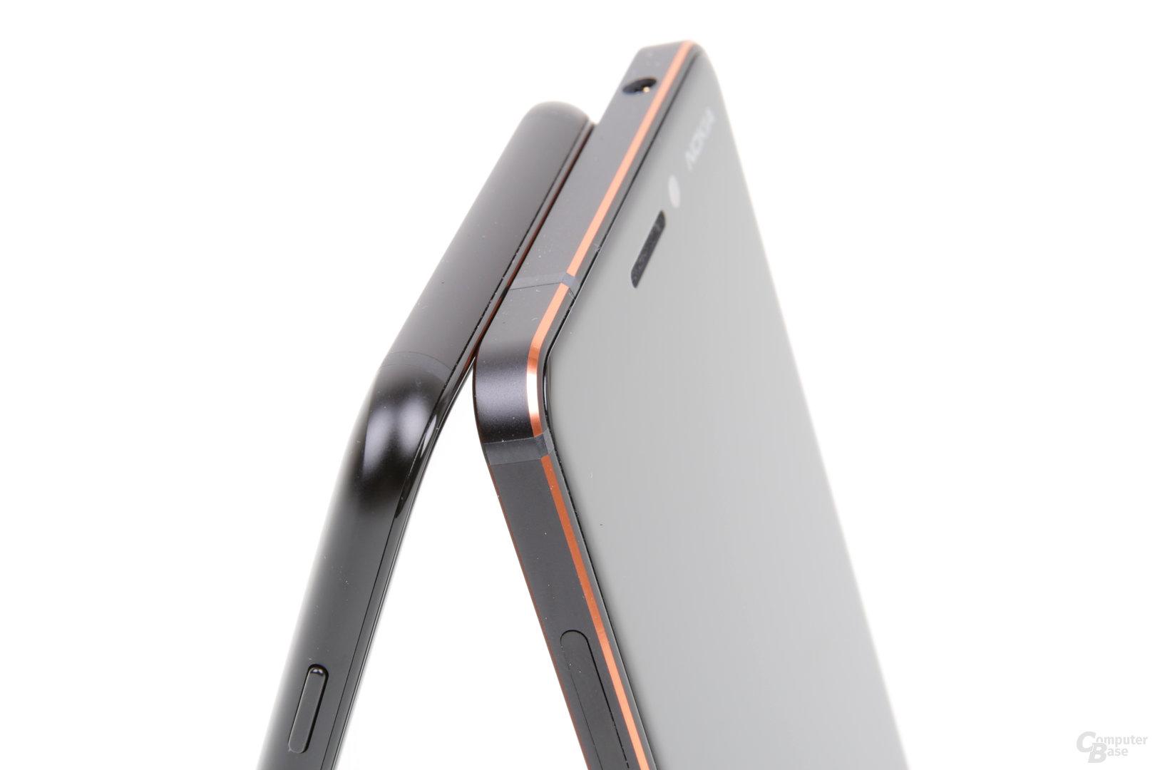 Abgerundetes Samsung- vs. kantiges Nokia-Design