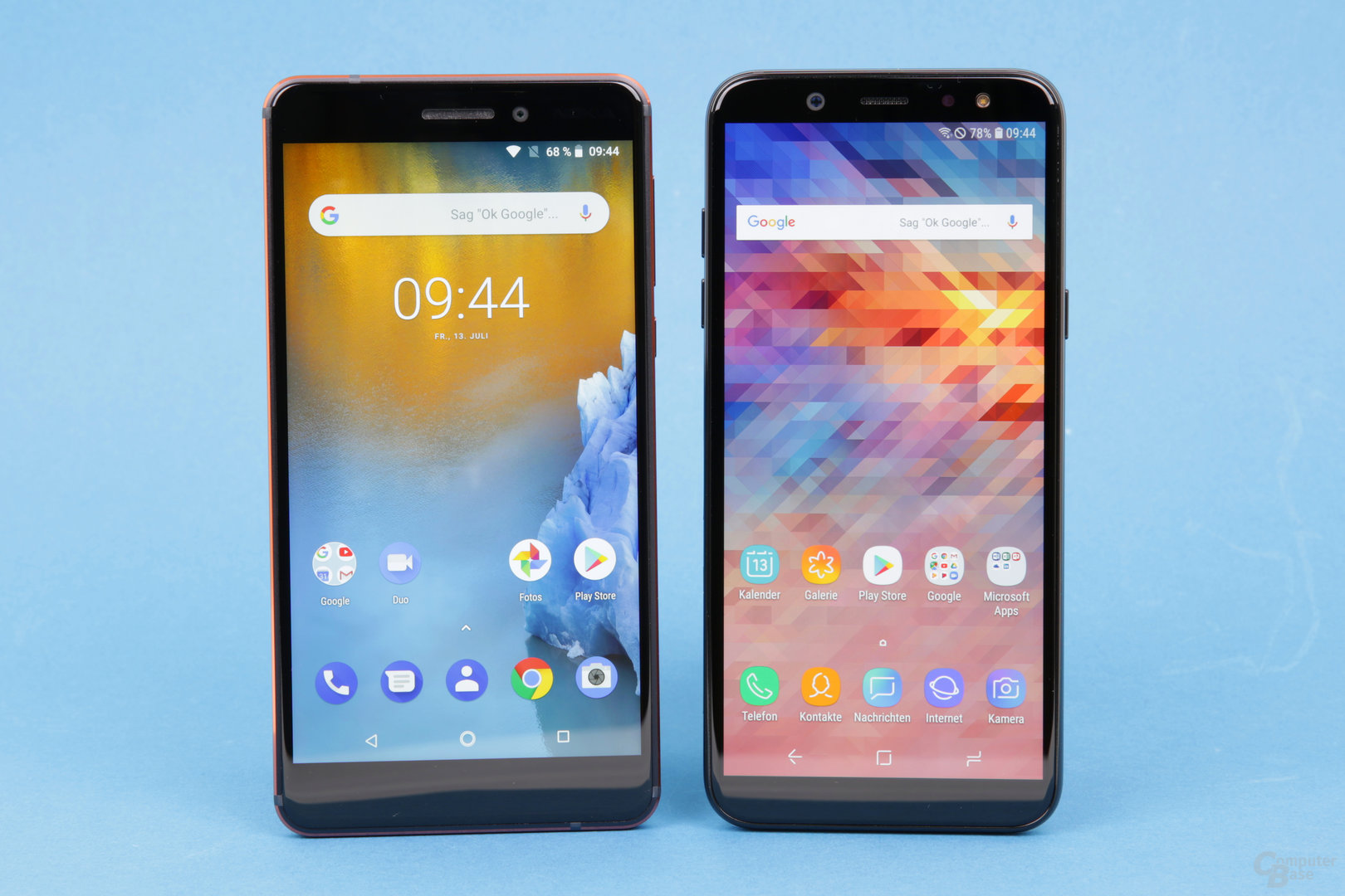 Samsung Galaxy A6 vs. Nokia 6.1 im Test