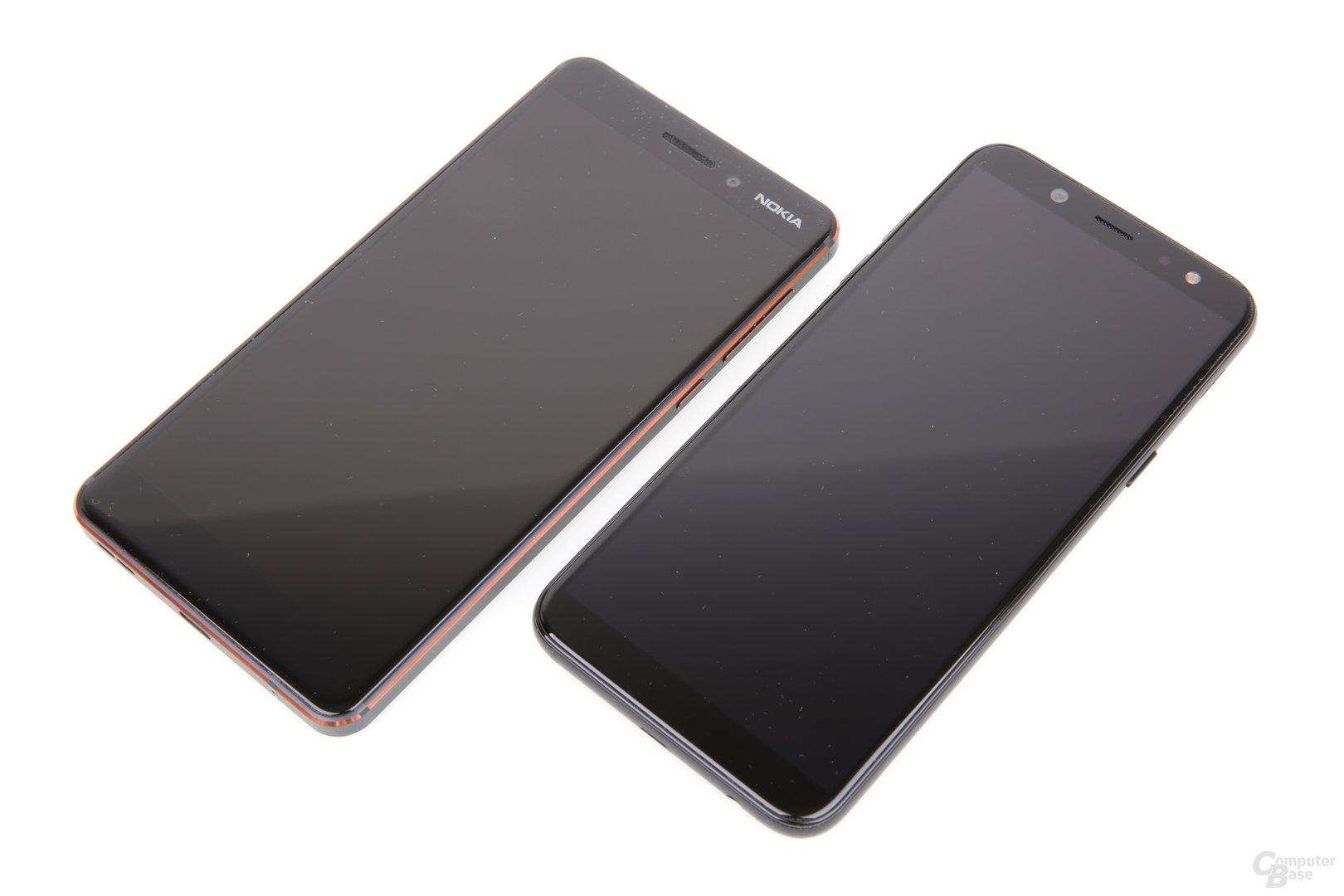 Nokia 6.1 und Samsung Galaxy A6 im Vergleich