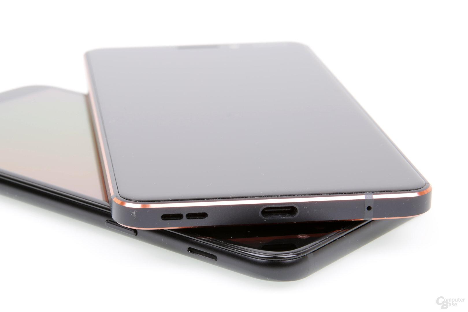 Samsungs Lautsprecher ist praktischerweise an der Seite