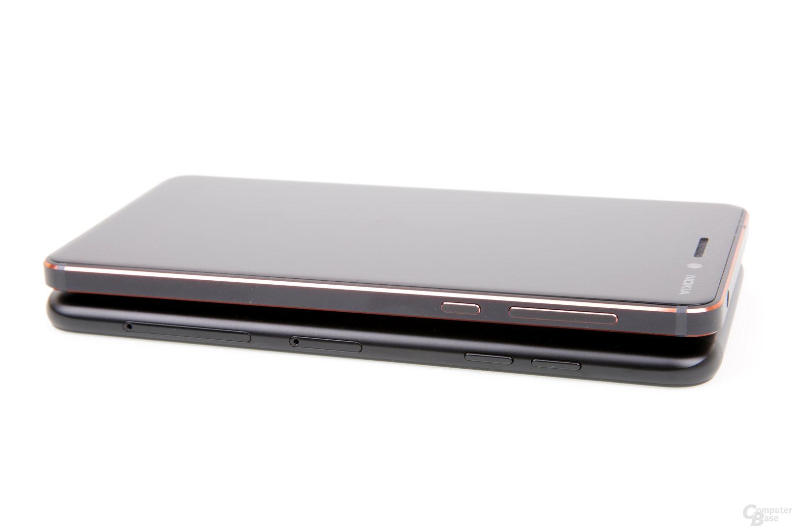 Das Galaxy A6 bietet die deutlich besseren Tasten