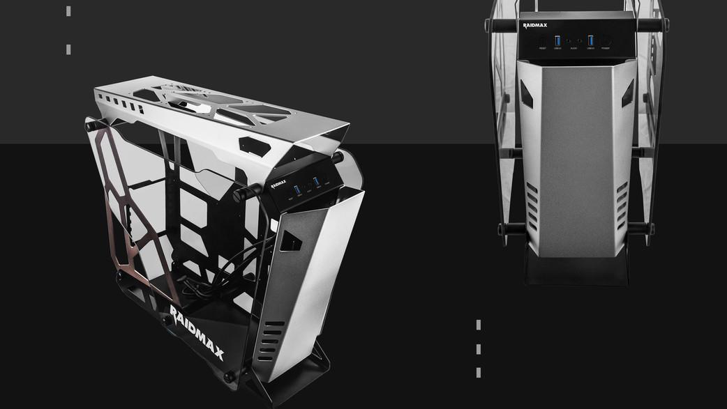 Raidmax X08: Der halboffene Aufbau greift um sich