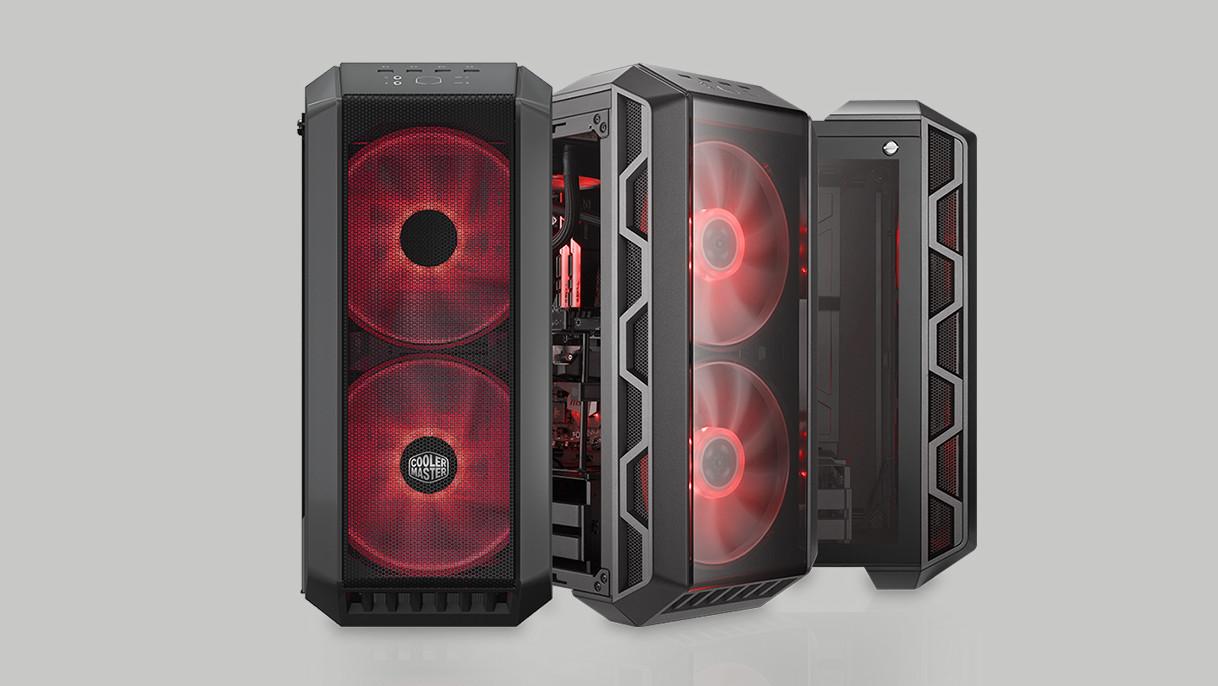MasterCase H500: Gehäuse mit 200-mm-Lüfter hinter einer Wechselfront