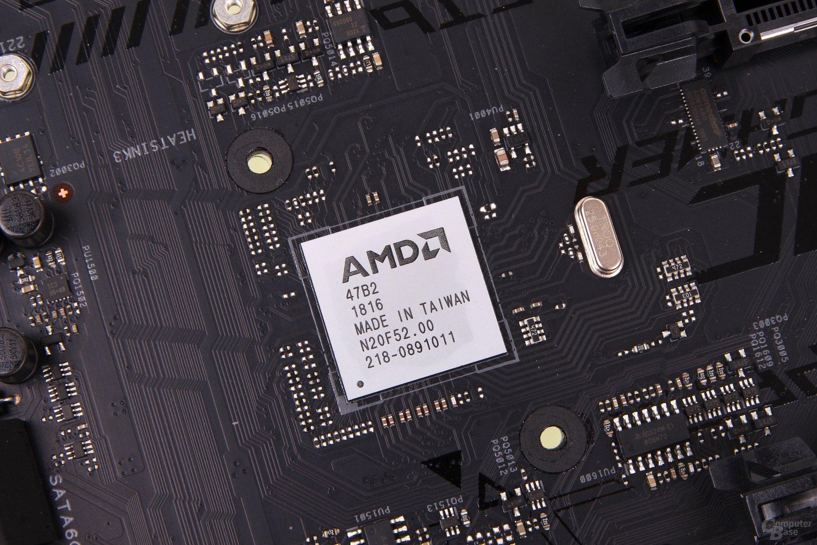 B450-Chipsatz ohne Heatspreader