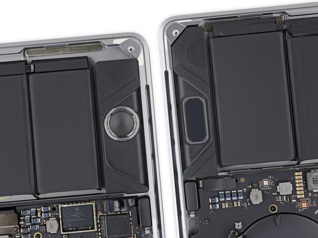 Apple nutzt das Gehäuse jetzt besser aus (rechts)