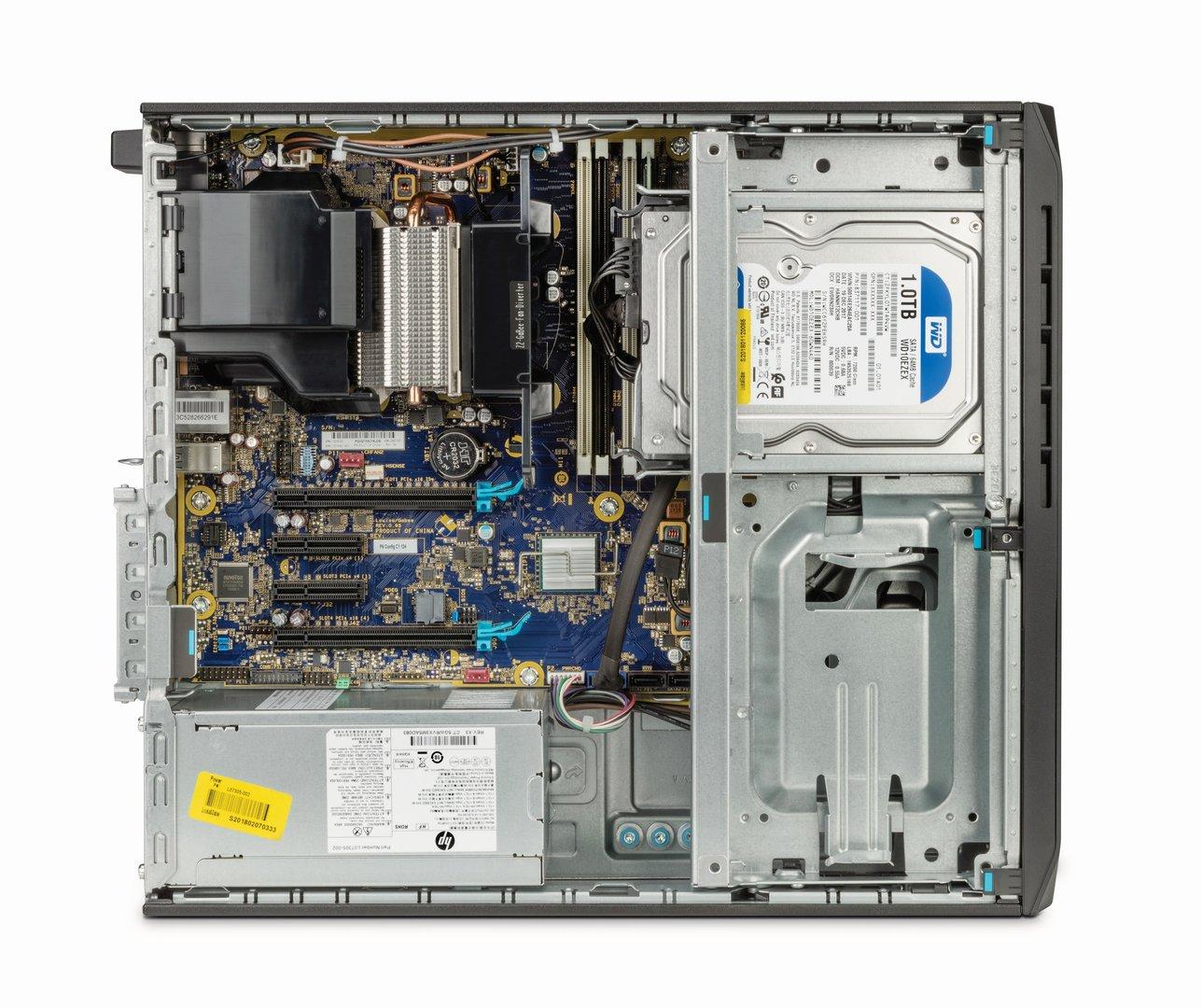 HP Z2 SFF G4 von innen