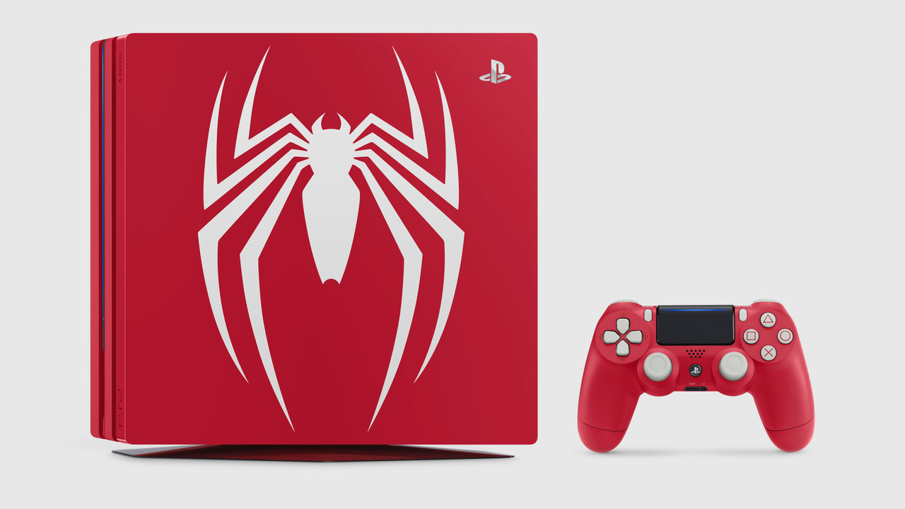 Sony: Rote PlayStation 4 (Pro) im Spider-Man-Look
