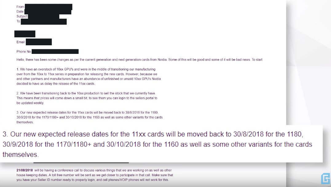 E-Mail eines Nvidia-Board-Partners nennt Termine für GeForce GTX 11xx