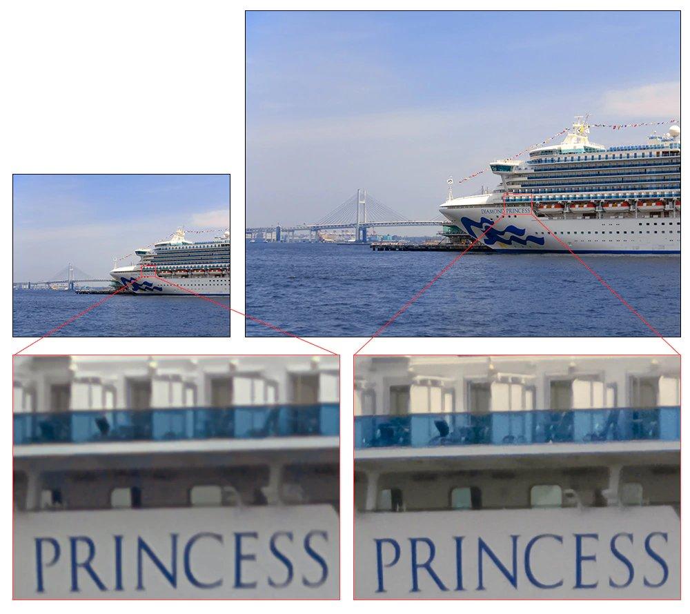 Vergleich zwischen effektiv 12 und 48 Megapixel