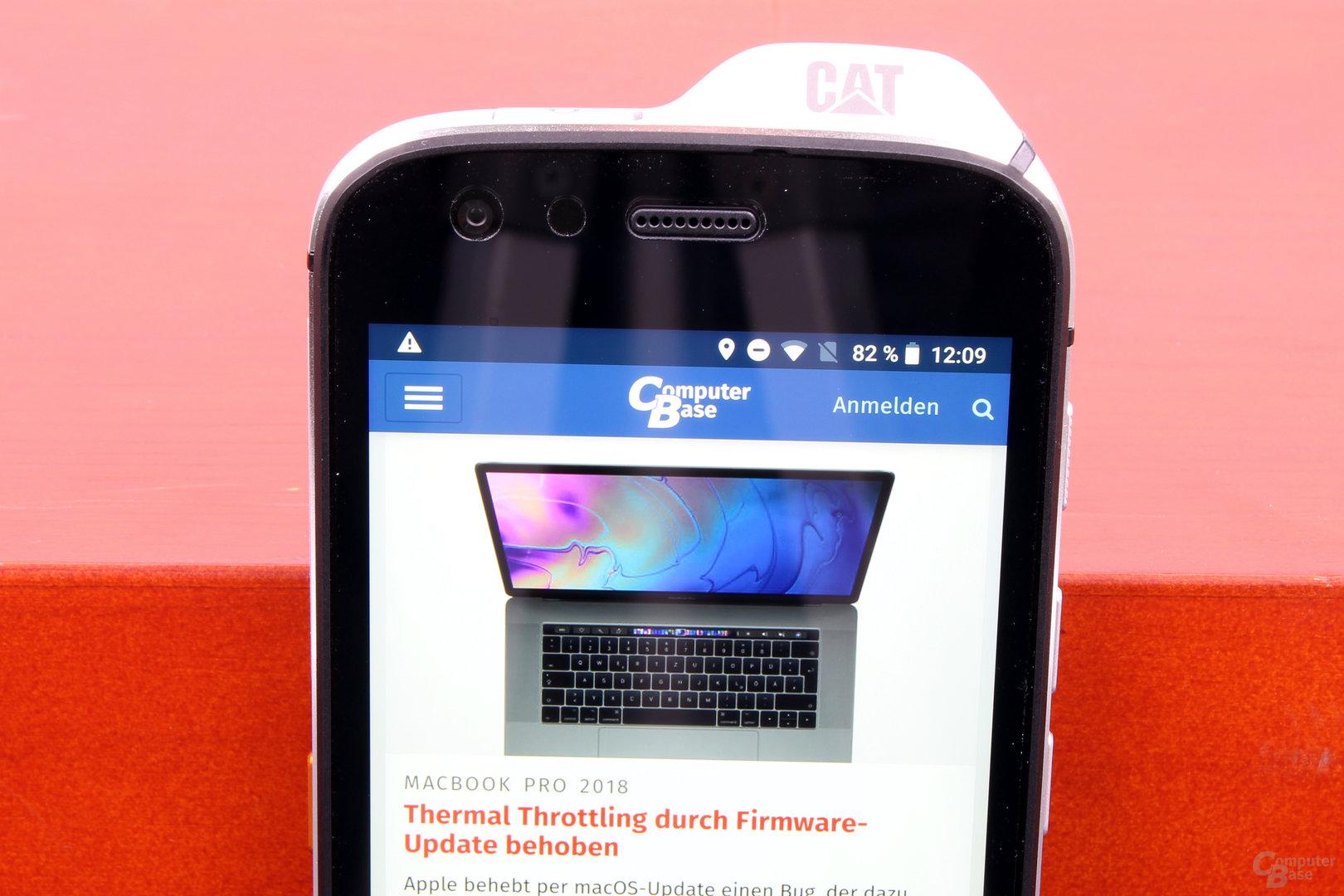 Cat S61 – Sehr helles Full-HD-Display