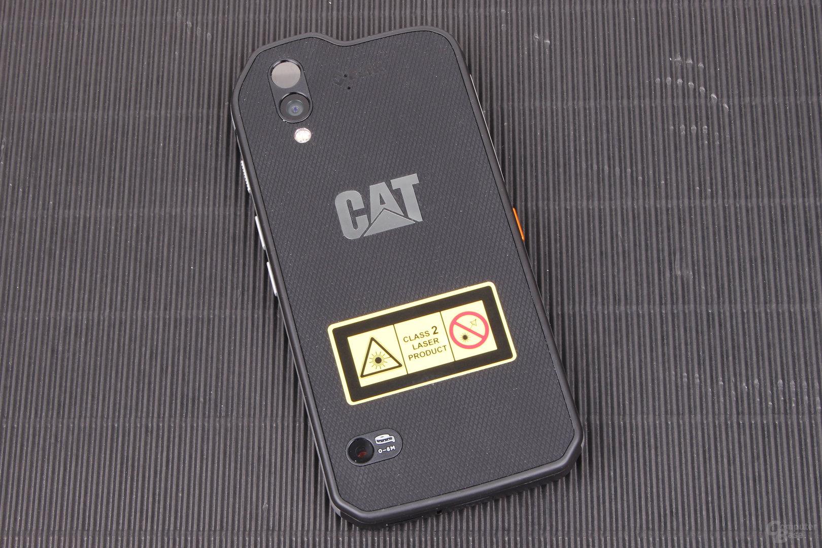 Cat S61 – Rückseite mit Laser und Kameras