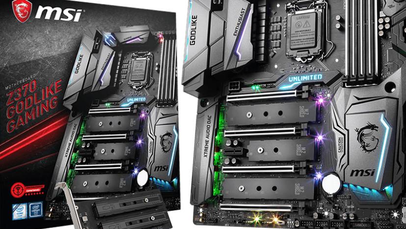 Intel-Mainboard: MSI bewirbt 15 Z370-Platinen mit Support für Core i-9000