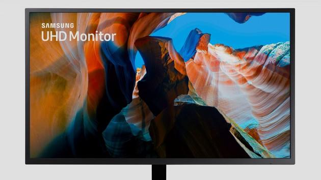 samsung u32j590 32 zoll gro er uhd monitor zum kleinen. Black Bedroom Furniture Sets. Home Design Ideas