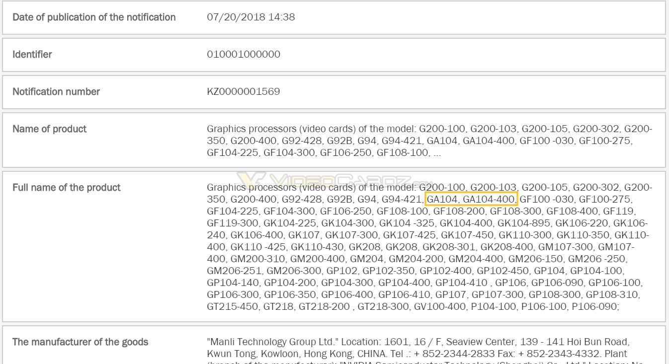 """Nvidia GA104 könnte für """"Ampere"""" stehen"""